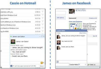 Facebook-Chat in Hotmail