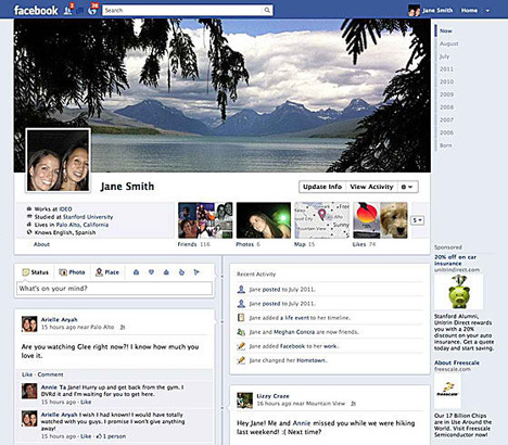Facebook Chronik Profil