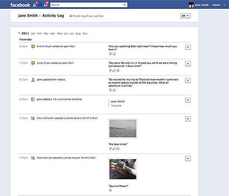 Facebook Logbuch